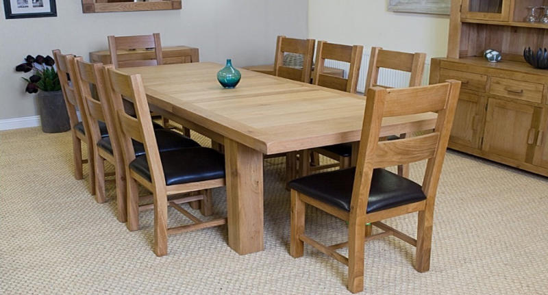 Oak Kitchen Table And 8 Chairs Palma Table Morrissey Furniture