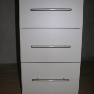 Lima White Bedside Locker